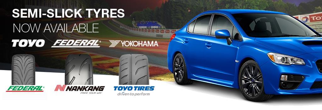 semi-slick tyres