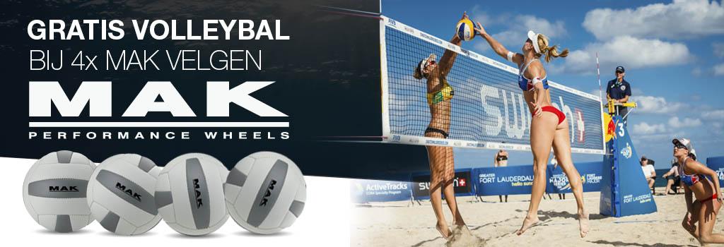 Gratis volleybal bij aankoop van 4 x MAK velgen