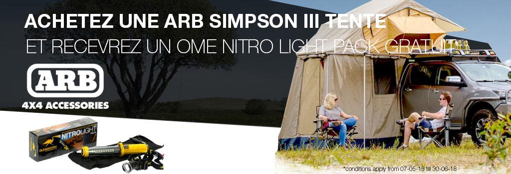 OME Nitro Light Pack gratuit à l'achat d'une ARB Simpson III tente
