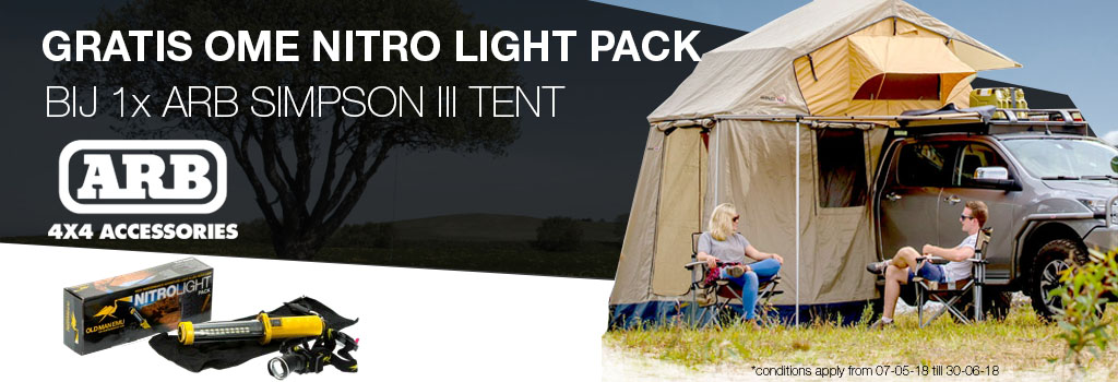 Gratis OME Nitro Light Pack bij 1x ARB Simpson III tent