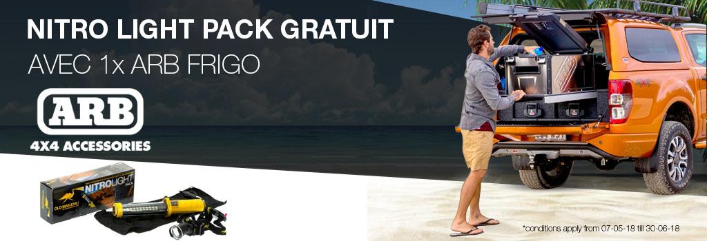 OME Nitro Light Pack gratuit à l'achat d'une ARB FRIGO