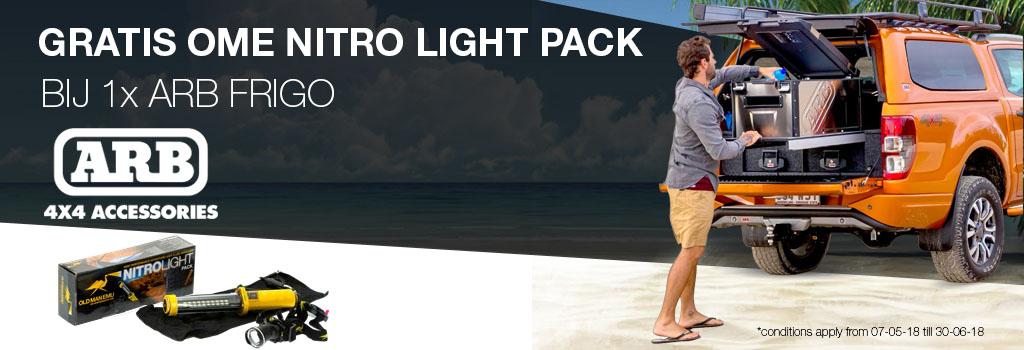 Gratis OME Nitro Light Pack bij 1x ARB FRIGO