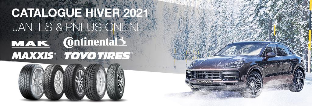 Atraxion catalogue pneus, jantes hiver 2021