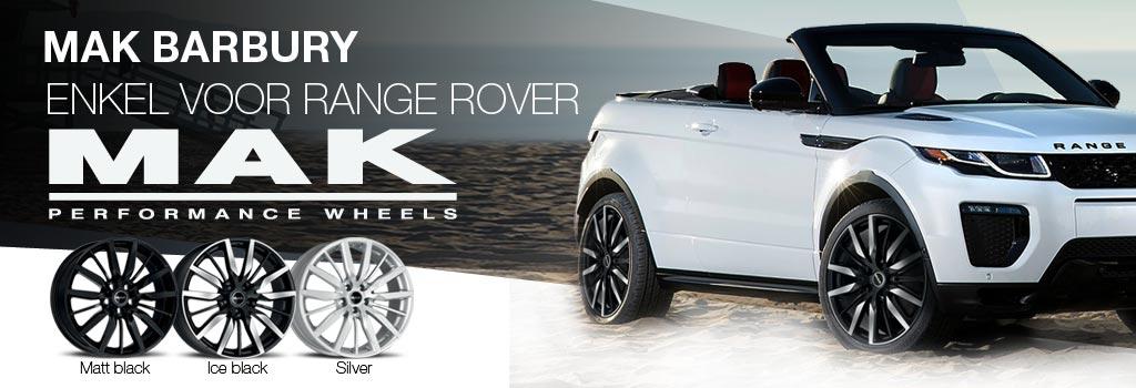 MAK Barbury: Speciale Land Rover Range Rover velgen