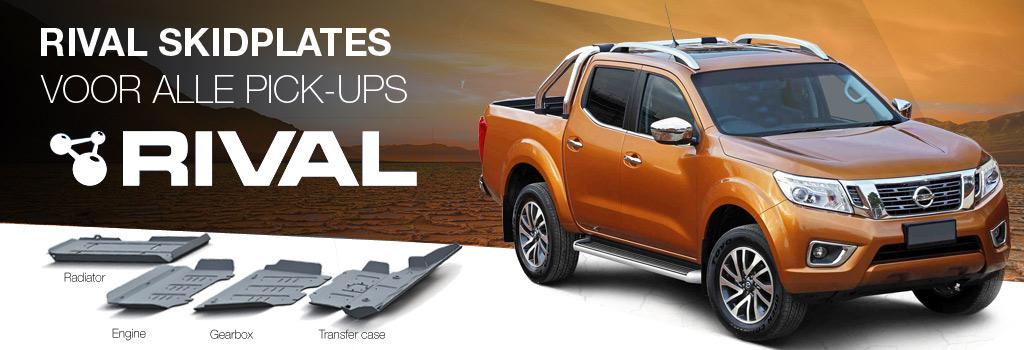 Rival skidplates voor alle pickups, SUV's, 4x4, quads, offroad voertuigen
