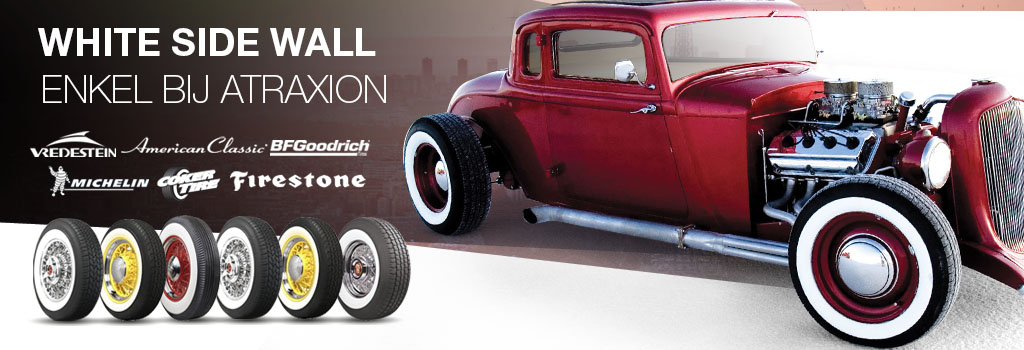 White side wall, oldtimer  tyres only at Atraxion
