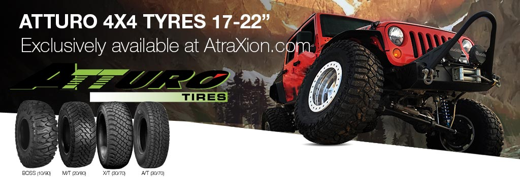 Attoro 4x4 tyres 14-22 inch Exclusively available at Atraxion.com