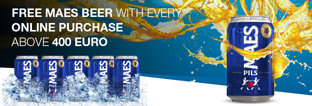 Free MAES 33 CL with every purchase above the 400 euros.
