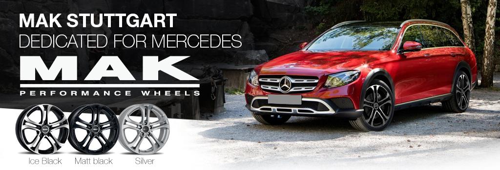 MAK stuttgart speciaal voor Mercedes, gebruik originele caps en logo's